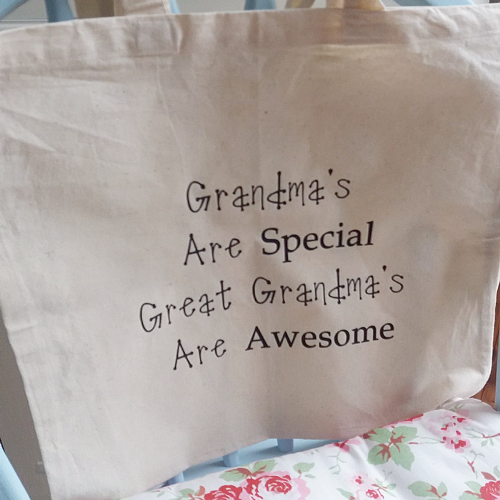 100% Cotton Long handled Shopper With Own Text